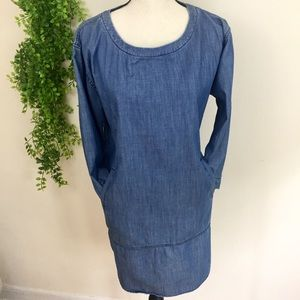 Anthro Holding Horses Chambray Pocketed Tunic